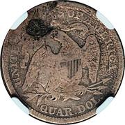 ¼ Dollar (Counterstamped) – reverse