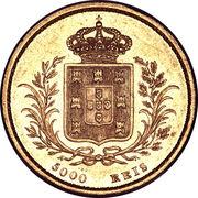5000 Réis - Luiz I – reverse