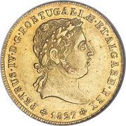 ½ Peça - Pedro IV – obverse