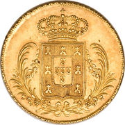 ½ Peça - Miguel I – reverse