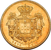 2500 Reis - Maria II – reverse