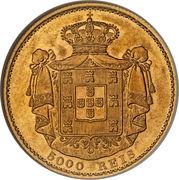 5000 Reis - Luiz I – reverse