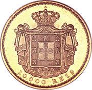 10 000 Reis - Luiz I – reverse