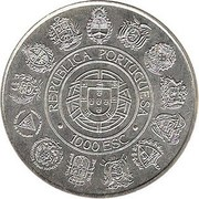 1000 Escudos (Discovery of the New World) -  obverse