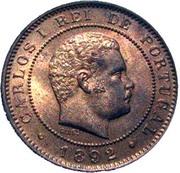 10 Réis - Carlos I -  obverse