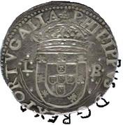 Tostão - Filipe II (L-B at each side of the shield) – obverse