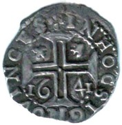 Tostão - João IV (Date under the Cross, Lisboa mint) – reverse