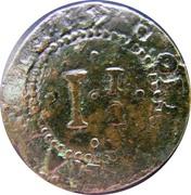 1½ Réis - Pedro Prince Regent – reverse