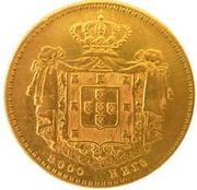 2000 Reis - Pedro V – reverse