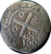100 Réis - Afonso VI (Countermark