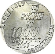 1000 Escudos (Revolution of April 25; Proof issue) – obverse