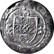 ½ Real Cruzado - João I (Porto mint) – reverse