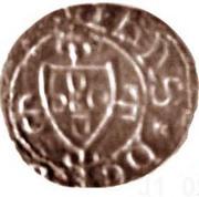¼ Real Cruzado - João I (Lisboa mint) – obverse