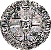 ½ Barbuda - Fernando I (Lisboa mint) – reverse
