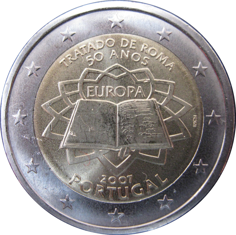 Portugal 2 euro commemorative 2007 Treaty of Rome UNC