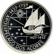 100 Escudos (Discovery of Azores; Silver) -  reverse