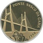 500 Escudos (Vasco da Gama Bridge; Bimetallic foil silver and gold) -  reverse