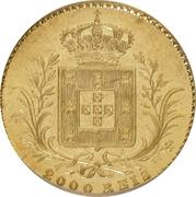 2000 Reis - Luiz I – reverse
