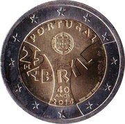 2 Euro (Carnation Revolution) -  obverse