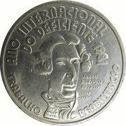 100 Escudos (International Year of Disabled Persons) -  reverse