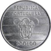 200 Escudos (XXV Olympic Games) -  obverse
