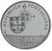500 Escudos (Vasco da Gama Bridge; Proof issue) -  obverse