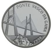 500 Escudos (Vasco da Gama Bridge; Proof issue) -  reverse
