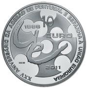 10 Euro (EU Membership; Silver) – reverse