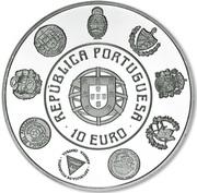 10 Euro (Ibero-America; Silver) – obverse