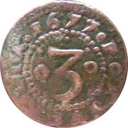 3 Réis - Pedro Prince Regent – reverse