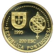 PORTUGAL 200 ESCUDOS 50TH ANNIVERSARY OF ONU BI-METALLIC 1995 KM#679
