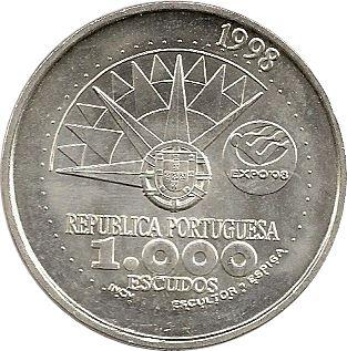 1000 ESCUDOS Portugal ANO INTERNACIONAL DOS OCEANOS