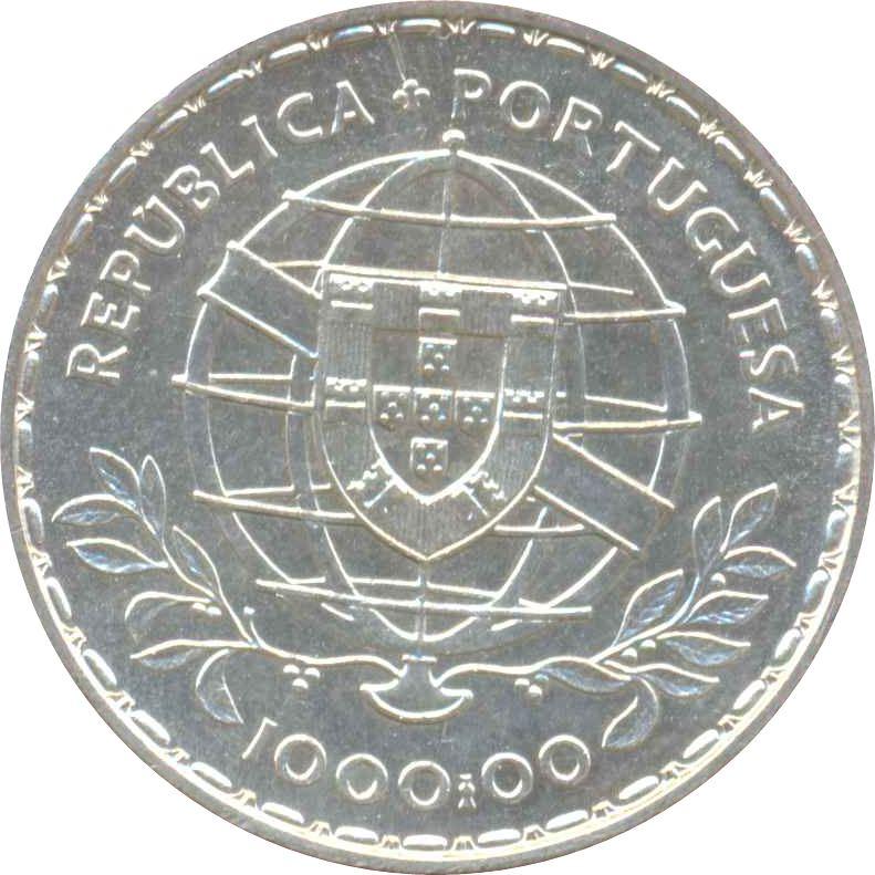 Camoes 400th Anniversary of Death  1000 escudos silver 1981 UNC