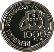 1000 Escudos (Treaty of Tordesillas; Proof issue) – obverse