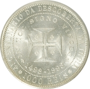 1000 Réis - Carlos I (Discovery of India) -  reverse