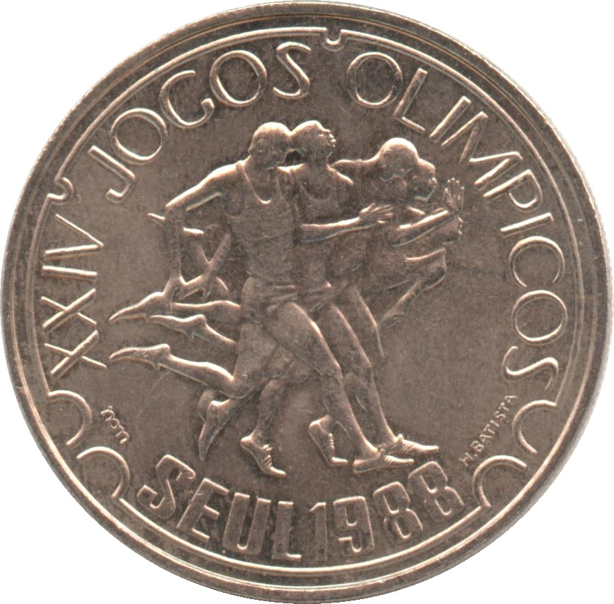PORTUGAL 250 Escudos Olympic Games Seul 1988 UNC