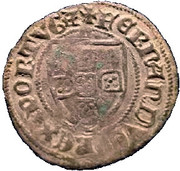 ½ Tornês Escudo - Fernando I (Zamora mint) – obverse