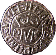 ½ Real - Manuel I (Porto mint) – obverse