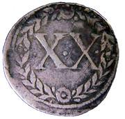 Vintem XX - João III (Lisboa mint) -  reverse