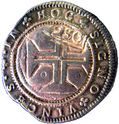250 Réis - Pedro II (Countermark issue) – reverse