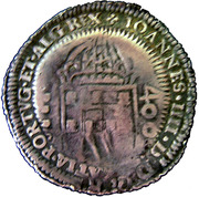 500 Réis - Pedro II (Countermark issue) – obverse