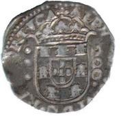 ½ Cruzado - Afonso VI (Évora) – obverse