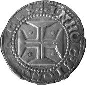 ½ Cruzado - Afonso VI (Without date, Lisbon) – reverse