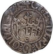 ½ Vintém - João II – obverse