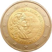 2 Euro (Portuguese Republic) -  obverse