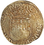 """4000 Réis - Afonso VI (With countermark """"Crowned 4"""" over 4 Cruzados) – reverse"""