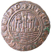 Ceitil - Afonso V (Group 1 - Long and low outside wall, with ends that touch or cut the circumference) – obverse