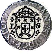 """Tostão - João IV (Lisbon mint """"L-S"""") – obverse"""