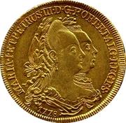 ½ Peça – Maria I & Pedro III – obverse