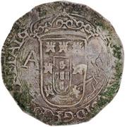 """2 Tostões - António I (Countermarked with """"Açor"""" over """"Tostão - Antonio"""") – reverse"""